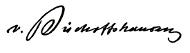 Unterschrift von Alexander von Bischoffshausen.