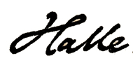 Signature of Carl Halle.