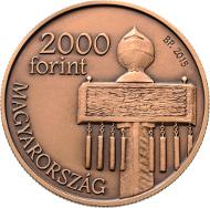 Hungary / 2,000 Forint / Cupro-Zinc / 37 mm / 18.4 g / Design: Virág Szabó / Mintage: 5,000.