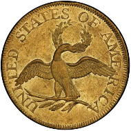Lot 2074: 1798 Capped Bust Right Half Eagle. Bass Dannreuther-1. Rarity-7. Small Eagle. About Uncirculated-55 (PCGS). Price Realized: $1,175,000.00.