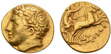 Syracus, Agathokles, 317-289 v. Chr., Dekadrachme, 317-310 v. Chr., selten. Ausruf: 3.500 Euro.