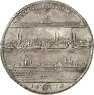 Nr. 105: BRAUNSCHWEIG-WOLFENBÜTTEL. Rudolf August, 1666-1685. Löser zu 4 Reichstalern 1679, Zellerfeld. Unikum? Vorzüglich bis Stempelglanz. Taxe: 40.000,- GBP.