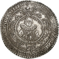 Lot 130: BRUNSWICK-LÜNEBURG-CELLE. Frederick, 1636-1648. Löser of 10 reichsthaler 1639, Clausthal. Unique. Extremely fine. Estimate: 60,000,- GBP.