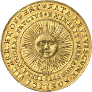 Lot 485: HRE. Ferdinand III, 1625-1637-1657. 10 ducats 1648. Made of metal mined from the Ferdinand Mine at Schemnitz. Probably unique. Extremely fine. Estimate: 100,000,- GBP.