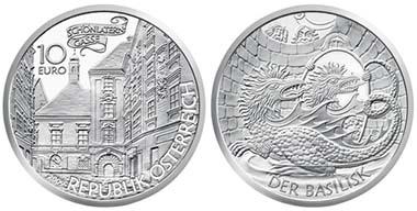 Beliebtestes Thema: Österreich - 10 Euro, Silber, Basilisk von Wien