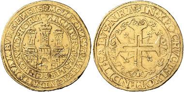 Hamburg. Portugalöser weighing 10 ducats, no date (1578-1582). Künker 256 (2014), 7090.