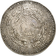 Brunswick and Lüneburg. Julius, 1568-1589. Löser of 8 reichstaler 1588. Heinrichstadt (Wolfenbüttel). Nominal value punched. Estimate: 15,000 GBP.