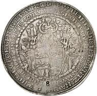 Brunswick and Lüneburg. Julius, 1568-1589. Löser of 8 reichstaler 1588. Heinrichstadt (Wolfenbüttel). Nominal value punched. Estimate: 15,000 GBP.
