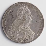Dieser württembergische Taler von 1740 ist die letzte Münze, die aus Christophstaler Silber geprägt wurde. Die Inschrift auf der Rückseite verweist stolz auf die Herkunft des Edelmetalls: THALER AVS DEM BERGWERCK ZV CHRISTOPHSTHAL (Stuttgart Landesmuseum Württemberg, Inv. MK 10984, Foto: Landesmuseum Württemberg, Hendrik Zwietasch).