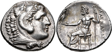 Lot 41: KINGS of MACEDON. temp. Kassander - Antigonos II Gonatas. Circa 310-275 BC. Tetradrachm. Price 840. EF. Rare. Estimate: $750.
