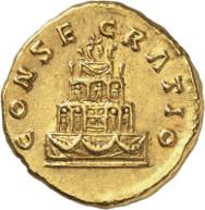 Lot 142: ANTONINUS PIUS, 138-161. Aureus. Consecratio under Marcus Aurelius. Rv. CONSECRATIO funeral pyre. RIC 435. Extremely fine. Estimate: 5,000,- euros.