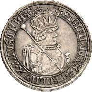 Nr. 1578: RDR. Franz Joseph, 1848-1916. Gedenkdoppelgulden 1884 der Numismatischen Gesellschaft Wien zur 400-Jahrfeier der Talerprägung. Thun 466. Äußerst selten. Fast Stempelglanz. Taxe: 7.500,- Euro.