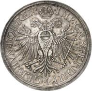 Lot 1658: GERMANY. Augsburg. Double thaler 1627. Dav. 5030. Very rare. Good very fine. Estimate: 15,000,- euros.