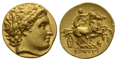 Kingdom of Macedon, Philip II, 359 - 336 Pella Stater 336-328. Good Extremely Fine. From the Barry Feirstein Collection. Starting Bid: £2,800.