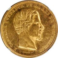 GUATEMALA. 16 Pesos, 1869-R. NGC MS-61. Estimate: $4,000-$5,000.