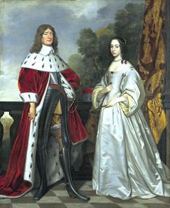 Frederick William and Louise Henriette, painting by Gerrit von Honthorst, ca. 1647.