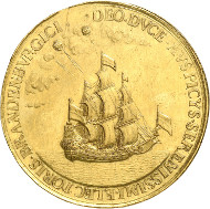 The gold medal from 1681, worth 25 ducats, can be acquired under lot number 227. It is the only remaining specimen from this historically fascinating coinage. The medal is estimated at 75,000,- GBP.