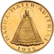 Los 456: 100 Schilling 1935, Magna Mater Austria, I. Rufpreis: 4.800 Euro.
