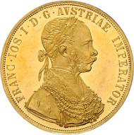 Los 139: Franz Josef I. 4 Dukaten 1872 Wien, II+/I-. Rufpreis: 1.700 Euro.