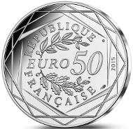 France / 50 Euros / Silver .900 / 41 g / 41 mm / Mintage: 50,000.
