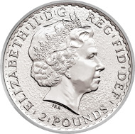 UK / 2 Pounds / Silver .999 / 31.21 g / 38.61 mm / Design: Ian Rank-Broadley FRBS (observe) and Philip Nathan (reverse).