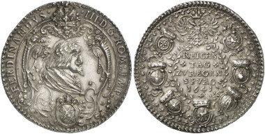 Medal by H. G. Bahre(?) on the Regensburg Diet from 1641. Künker Auction 247 (2014), 5932.