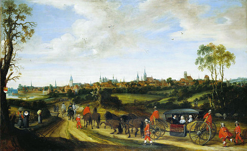 Gerard ter Borch, Arrival of Adriaen Pauw at Münster 1643, around 1646.