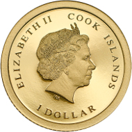 Cook Islands / 1 Dollar / Gold .9999 / 0.5 g / 11 mm / Mintage: 15,000.