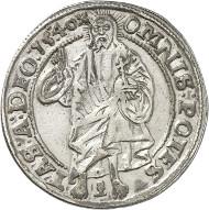 Nr. 1947: SCHWEDEN. Gustav Vasa, 1521-1560. Salvatordaler 1540, Västeras. 2. bekanntes Exemplar in Privatbesitz. Gutes sehr schön. Taxe: 50.000,- Euro. Zuschlag: 75.000,- Euro.