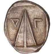 Nr. 59: Kaunos (Karien). Stater, ca. 410-390 v. Chr. K. Konuk, Essays Price 112b (dieses Exemplar). Aus Leu 48 (1989), 239 und aus NAC 48 (2008), 98. Gutes vorzüglich. Taxe: 100.000,- SFr.