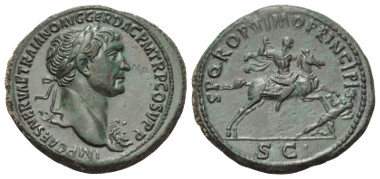 Los 239: TRAIANUS (98-117 n. Chr.). Sesterz. 104-107 n. Chr. Rom.
