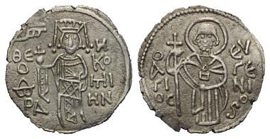 Lot 413: ROMAN EMPIRE TRAPEZUNT. Theodora (ca. 1285). Asper. Trapezunt.