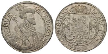 Lot 532: TRANSYLVANIA. Georg Rakoczi (1648-1660). Taler. 1650. Nagybanya.