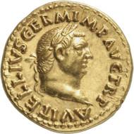 Nr. 8642: RÖMISCHE KAISERZEIT. Vitellius. Aureus, Rom. Lanz 135 (2007), 569. Sehr selten. Winzige Kratzer, fachmännisch restauriert. Vorzüglich. Taxe: 50.000,- Euro. Zuschlag: 105.000,- Euro.