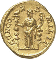 Lot 8836: ROMAN IMPERIAL TIMES. Didius Julianus. Aureus. Ex Montagu Collection, Rollin & Feuardent Auction 1896, lot 461. Very rare. Extremely fine / nearly extremely fine. Estimate: 35,000,- euros. Hammer price: 150,000,- euros.