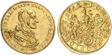 Palatinate. Charles Louis, 1648-1680. Ducat 1662, Heidelberg. Ex Künker Auction 258 (2015), 407.