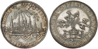 Münster. 1648 silver medal on the Peace of Westphalia, by E. Ketteler. Ex Künker Auction 249 (2014), 1862.
