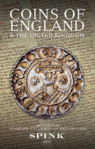 Coins of England & the United Kingdom 46th Edition for 2011. 25 Pounds.