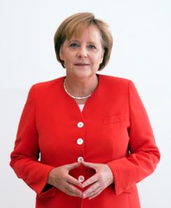 Angela Merkel im Juli 2010 formt die nach ihr benannte
