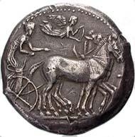 Abb. 11: Fälschung einer Tetradrachme von Syrakus.