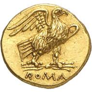 Nr. 351: RÖMISCHE REPUBLIK. Anonym. 40 Asse, 211-207, Rom. Äußerst selten. Vorzüglich. Taxe: 25.000,- Euro. Zuschlag: 55.000,- Euro.