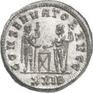 Nr. 2554: RÖMISCHE KAISERZEIT. Diocletian, 284-305. Antoninian, 289-290, Siscia. Gut erhaltener Silbersud. Vorzüglich. Taxe: 100,- Euro. Zuschlag: 1.800,- Euro.