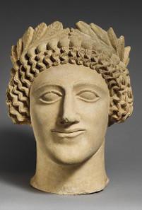 Limestone head, Cyprus, mid-5th century BCE. Photograph: The Metropolitan Museum of Art.