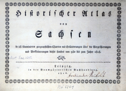Freiberger Münzfreunde (Hrsg.), Historischer Atlas von Sachsen, 1816. Nachdruck im Eigenverlag 2015. 32 S. Geheftet. 40 x 23 cm. 20 Euro zzgl. Versandkosten.