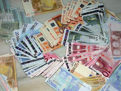 Euro bank notes. Photograph: Mayuyero / https://creativecommons.org/licenses/by-sa/3.0/deed.de