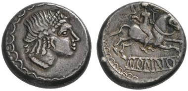 7 Celts. Boii. Nonnos. Hexadrachm, ca. 1st cent. B. C. Ex Freeman & Sear, Manhattan Sale III (2012), 30. Very rare. Extremely fine. Estimate: 6,000 euros. Starting price: 3,600 euros.
