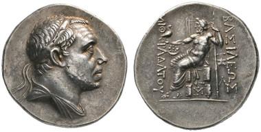 101 Greeks. Pontos. Mithradates III, 220-196. Tetradrachm, Amasia or Sinope, around 200 B. C. Ex Ambassador William Eagleton Collection. Very rare. Extremely fine. Estimate: 20,000 euros. Starting price: 12,000 euros.