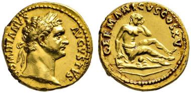 278 Roman Imperial. Domitianus, 81-96. Aureus, 90/91. Very rare. Extremely fine. Estimate: 20,000 euros. Starting price: 12,000 euros.
