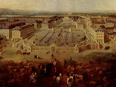 Pierre-Denis Martin, Palace of Versailles at the end of Louis' XIV reign, 1722. Source: Wikicommons.