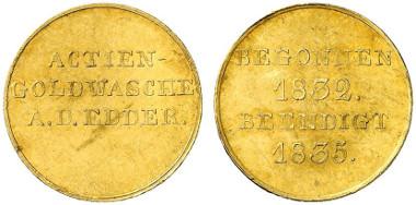 Eine der von der Gesellschaft hergestellten Goldmünzen.